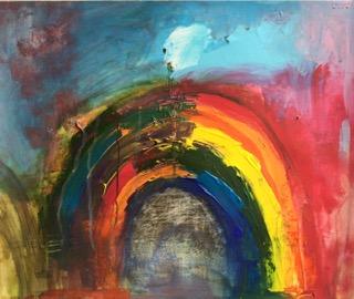 A Half Rainbow